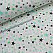 Фланелевая ткань зелено-мятный звездопад, фото 3