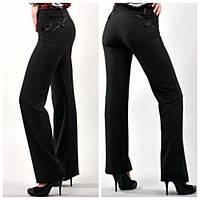 Молодежные брюки черного цвета. Посадка слегка занижена. Отличный вариант для школы весна-осень р.42 код 1735М