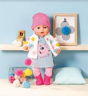 Кукла Baby Born Нежные объятия Zapf Стильный лук 826690