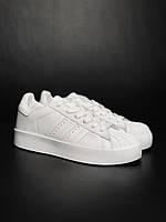 Женские кроссовки Адидас белые Adidas Super Star platform white
