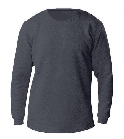 Термо-футболка мужская с длинным рукавом (темно-серый)