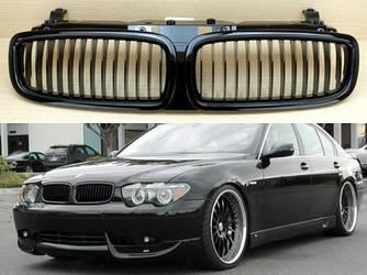 Решетка радиатора BMW E65 ноздри дорестайл (02-05) черный глянц