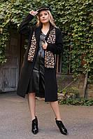 Брендовое актуальное пальто черного цвета Кареро 7970, фото 1
