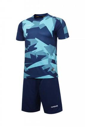 Футбольная форма Europaw 022 т.сине-бирюзовая, фото 2