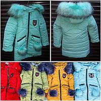Голубая курточка девочке на зиму, на овчинке,разные цвета, рост 104-122 см., 850/950 (цена за 1 шт. + 100 гр.)