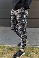 Штаны трикотажные мужские камуфляжные осенние / весенние