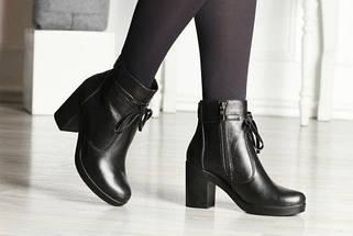 Ботинки женские на каблуке