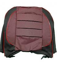 Автомобильные чехлы Пилот Pilot ВАЗ 2103 2106 ткань черная и красная