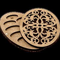 Органайзер для бісеру з дерев'яною кришкою FLZB-055