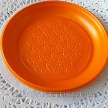 Пластиковая цветная тарелка 165 мм 10 штук