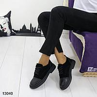 Женские закрытые туфли на низком каблуке, фото 1