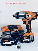 Аккумуляторный ударный гайковерт AEG BSS 18C (2 аккумулятора!!!)