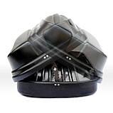 Багажный бокс Десна-Авто 440л чёрный двухстроннее открытие, фото 4