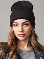 Удлиненная шапка с отворотом Peri Flip Uni черная