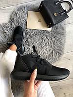 Женские кроссовки Адидас черные Adidas Tubular Defiant Black