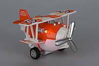 Детская игрушка самолет, свет, звук, металический, инерционный, Same Toy SY8012Ut-1