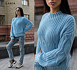 Женский теплый качественный свитер крупной вязки (разные цвета), фото 2