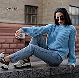 Женский теплый качественный свитер крупной вязки (разные цвета), фото 10