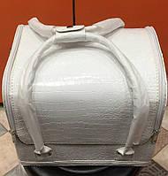 Чемодан, маникюрная сумка для мастера, кож.зам, лак, цвет белый, фото 1