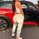 Женские спортивные штаны из светоотражающей плащевки 65so764, фото 2