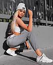 Женские спортивные штаны из светоотражающей плащевки 65so764, фото 3