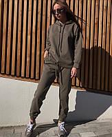 Женский свободный утепленный спортивный костюм с худи 71so765