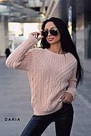Свитер женский вязаный модный с красивым узором разные цвета Ssch455