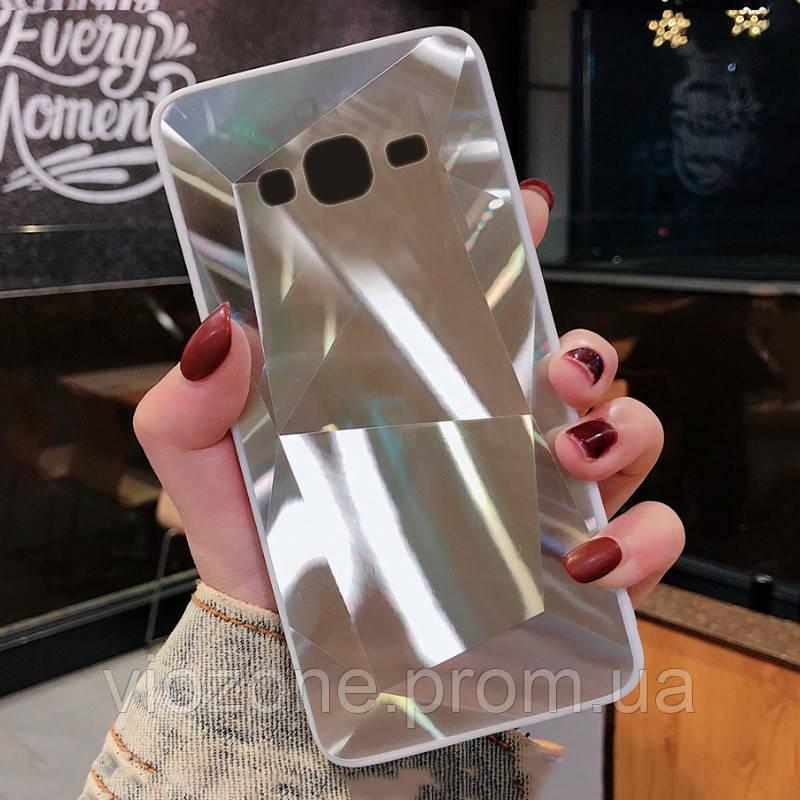 3D Зеркальный Чехол/Бампер для Samsung Galaxy J3 2016 / J320, Серебро
