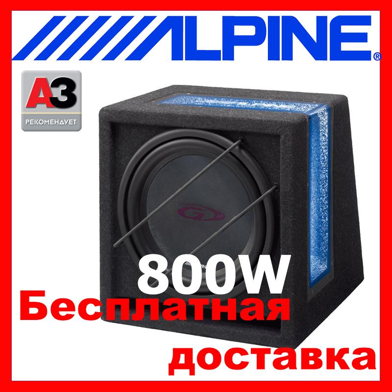 Сабвуфер ALPINE SBG-1244BR ( пассивный 250/800 Вт.4 Ом)