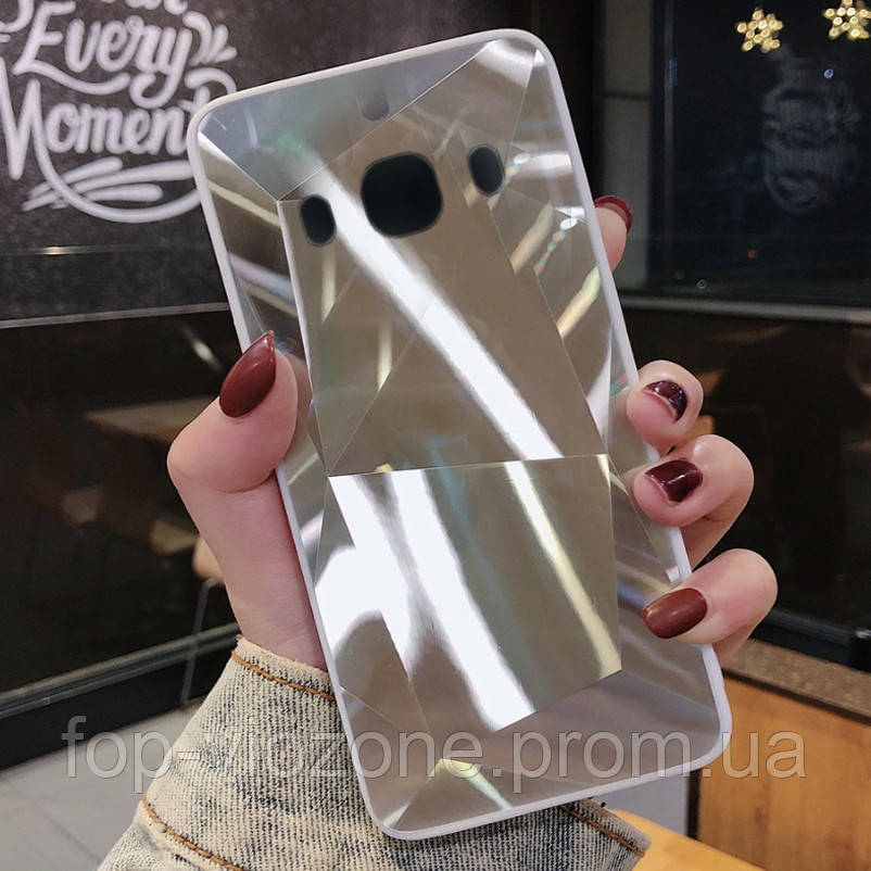 3D Зеркальный Чехол/Бампер для Samsung Galaxy J5 2016 / J510, Серебро
