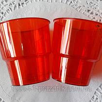 Стеклопласт стакан красный 250мл. 1 шт.