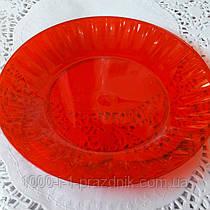 Стеклопласт тарелка красная 1 шт.