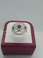 """Кольцо серебряное с вставкой золота """"Богема""""(Оникс), фото 1"""