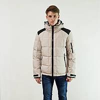 Пуховик мужской Snowimage средней длины светло-серый