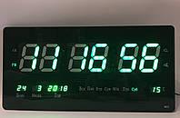 Настенные электронные часы Led Clock 4622 green (46x22см/Руское меню), фото 1