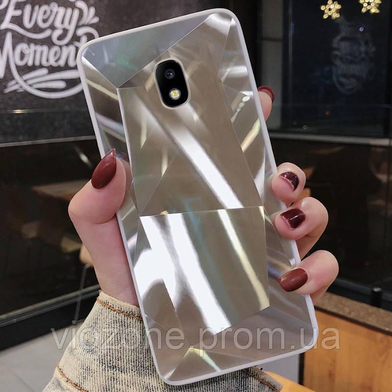 3D Зеркальный Чехол/Бампер для Samsung Galaxy J3 2017 / J330, Серебро