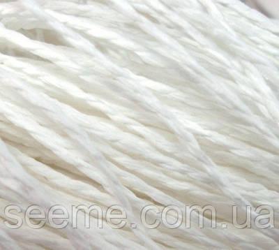 Бумажный шнур, 10 метров, цвет белый