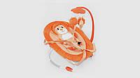 Детский шезлонг.BT-BB-0002-Orange.Подвеска с игрушками.Оранжевый