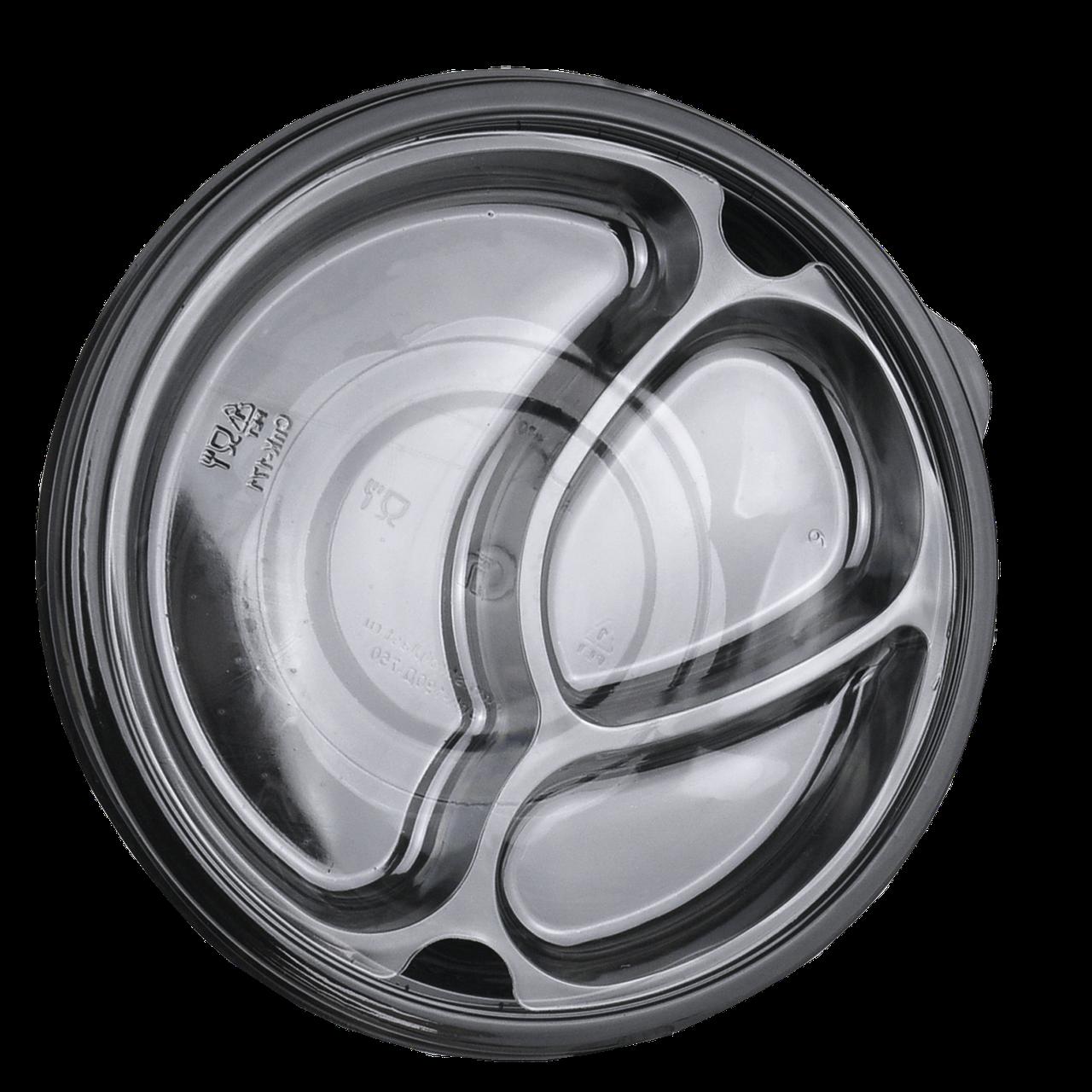 Менажница (вкладка) прозрачная для круглого контейнера (25 шт в уп.)