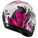 Шлем Shark Ridill Spring р.M, черно-бело-розовый, фото 2