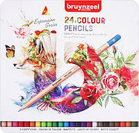 Набор цветных карандашей, EXPRESSION, 24шт., мет.коробка, Sakura