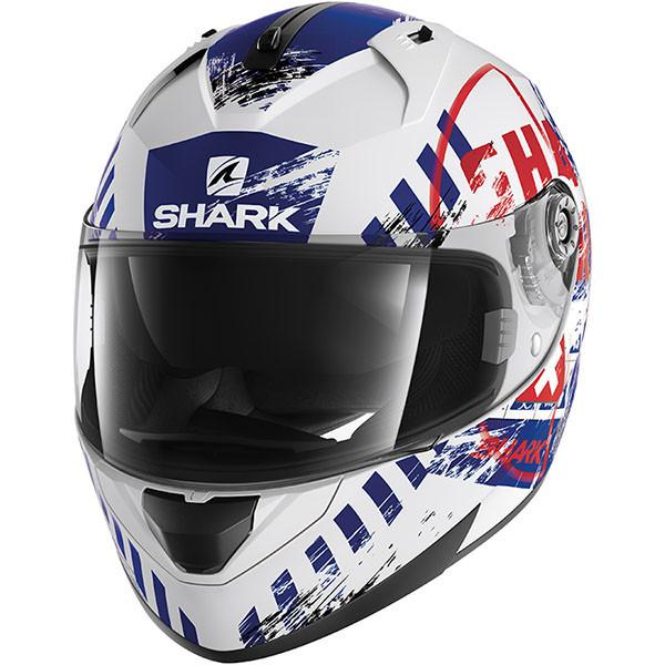 Шлем Shark Ridill Skyd р.M, бело-синий