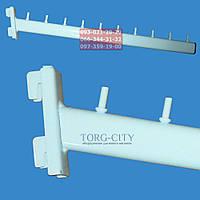 Флейта в рейку 10 штырей, 47 см,белая