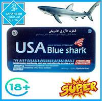 USA Blue Shark Блакитна акула препарат для потенції, миттєвий результат, 12 табл.