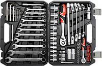 Набор инструментов для ремонта авто Yato с ключами 77 ед