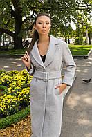 Стильное демисезонное пальто с поясом Фради 7978, фото 1