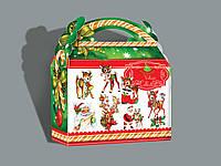 Упаковка новогодняя. Коробка Винтаж Бэмби 1025*4 .