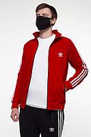 Олимпийка УТЕПЛЕННАЯ мужская в стиле Adidas Round красная