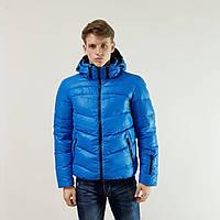Мужская зимняя куртка пуховик Snowimage голубой на пуху с капюшоном, распродажа, фото 1