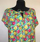 Платье  женское ,зеленое с цветочным принтом , романтик, летнее ,свободного кроя, 48, 50,52, пл-002-3., фото 3